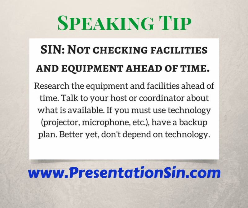 SIN Tip Not Checking Facilities