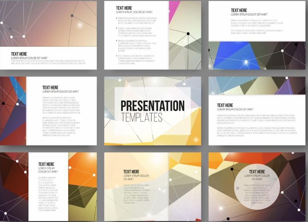 PowerPoint Slides with text