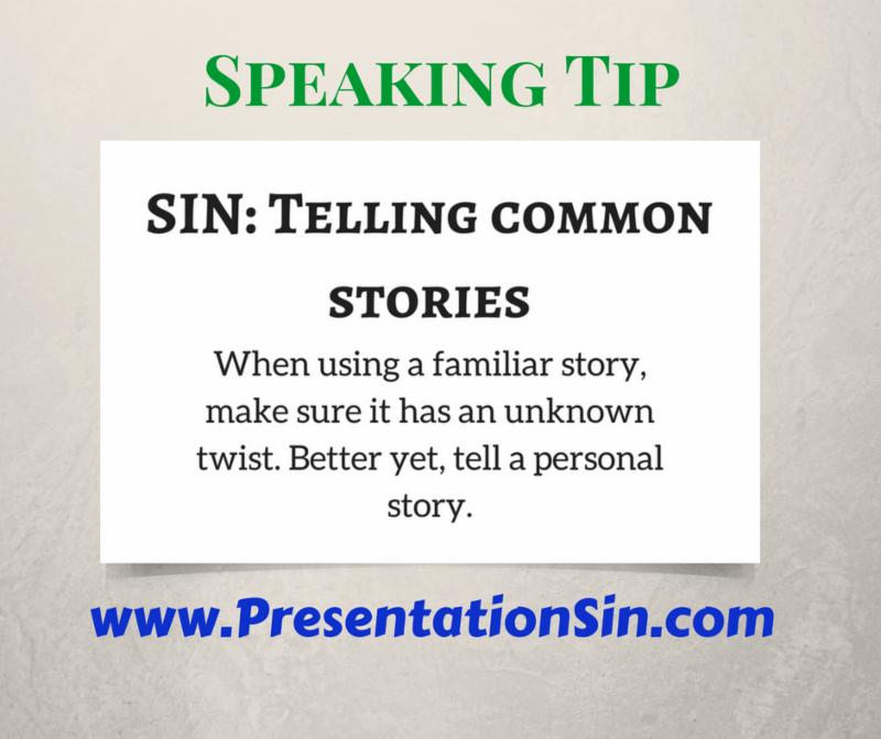 Presentation Sin Telling Common Stories