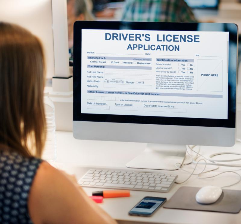 Drivers License Application