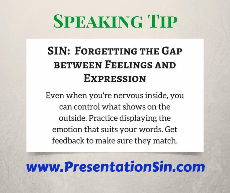 Speaking Tip Presentation Sin