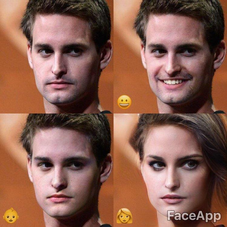 masculine to feminine face morph