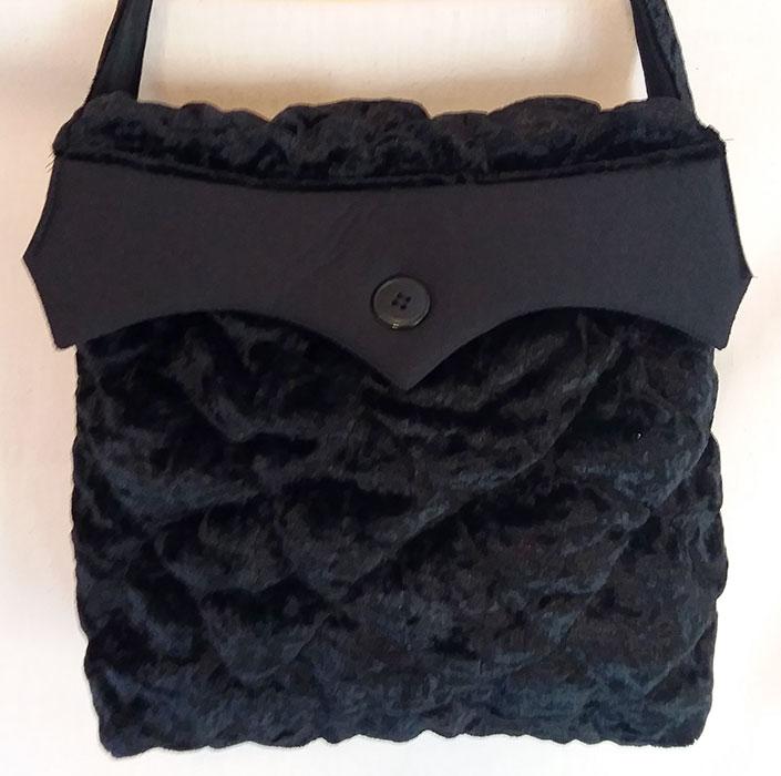 Black Velvet Handbag only at Yellow Dot Shop