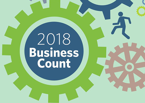 2018 Business Count logo.