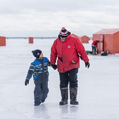 Ice fishing in Beaverton