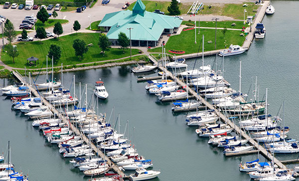 Whitby Waterfront with boats