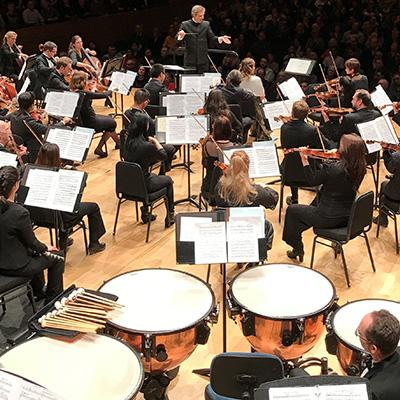 The Ontario Philharmonic Orchestra performing.