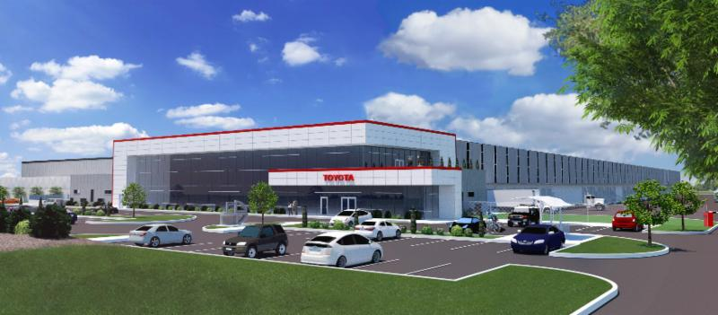 Rendering of the future Toyota location in Clarington