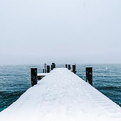 snowy dock 2021