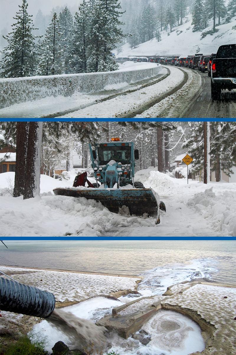 Winter traffic pollution