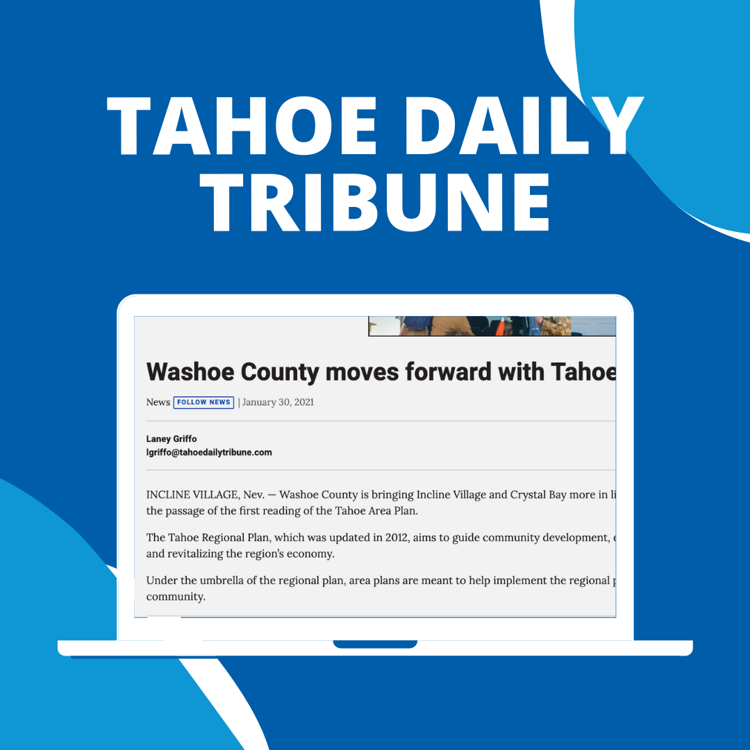 Washoe County moves forward with Tahoe Area Plan