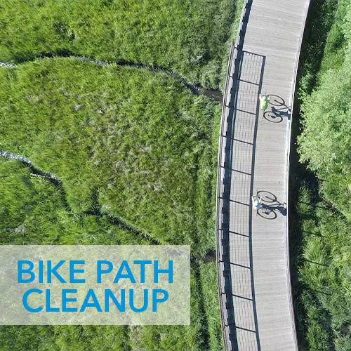 Bike path cleanup