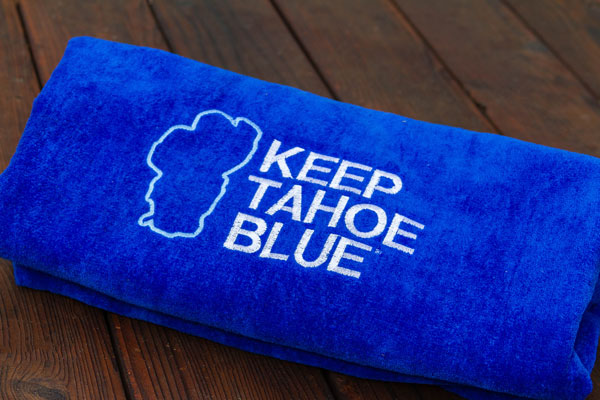 Keep Tahoe Blue Beach Towel