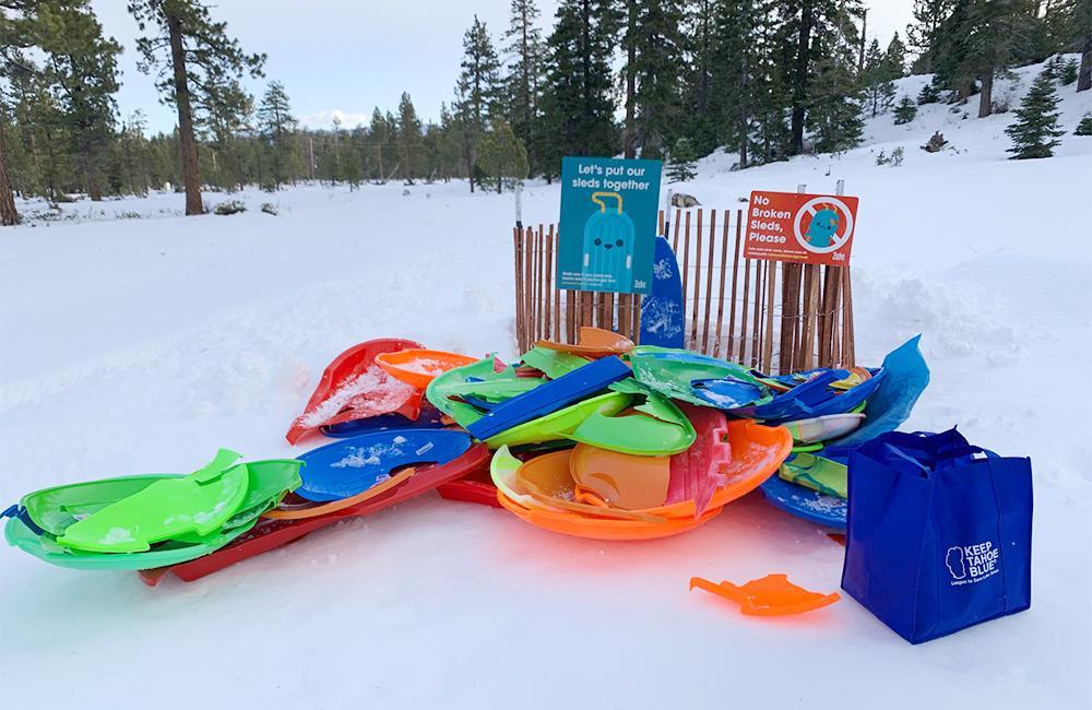 Plastic sled trash is a problem