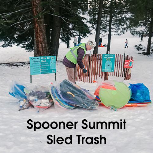 Spooner Summit Sled Trash
