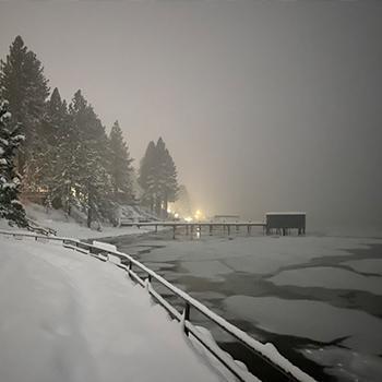 Snowy snow at Tahoe