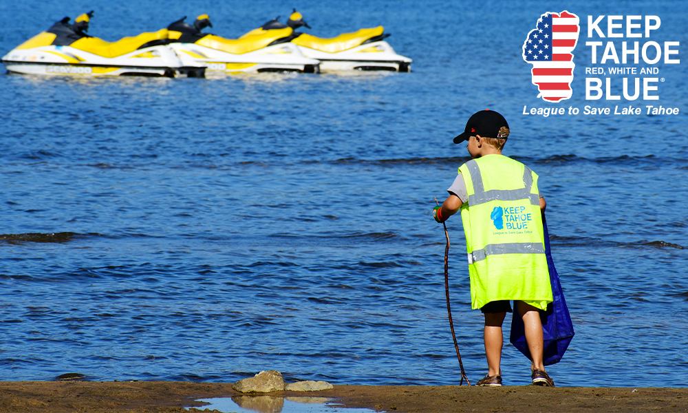 2021 Keep Tahoe Red White and Blue Beach Cleanup