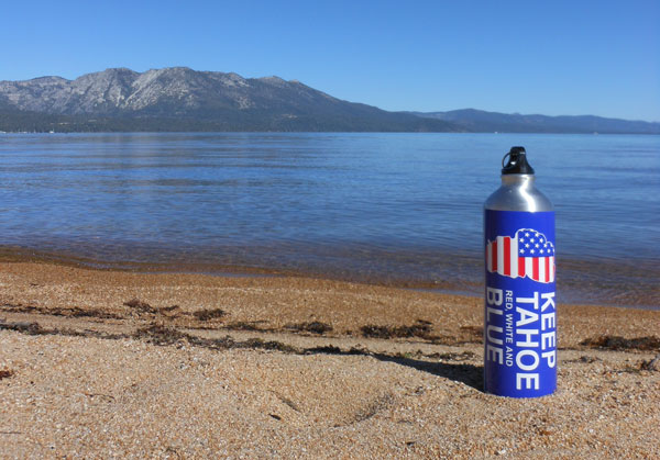 Keep Tahoe Red, White & Blue sticker