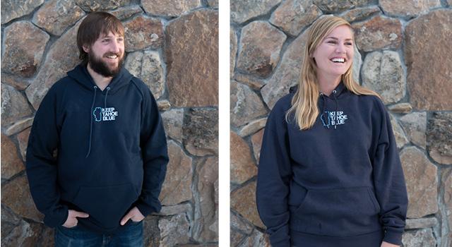 Keep Tahoe Blue Hooded Sweatshirt