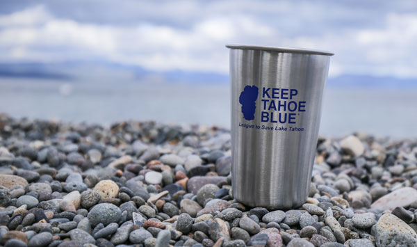 Make a recurring donation of $10 or more and we'll send you a stainless steel Keep Tahoe Blue pint glass.