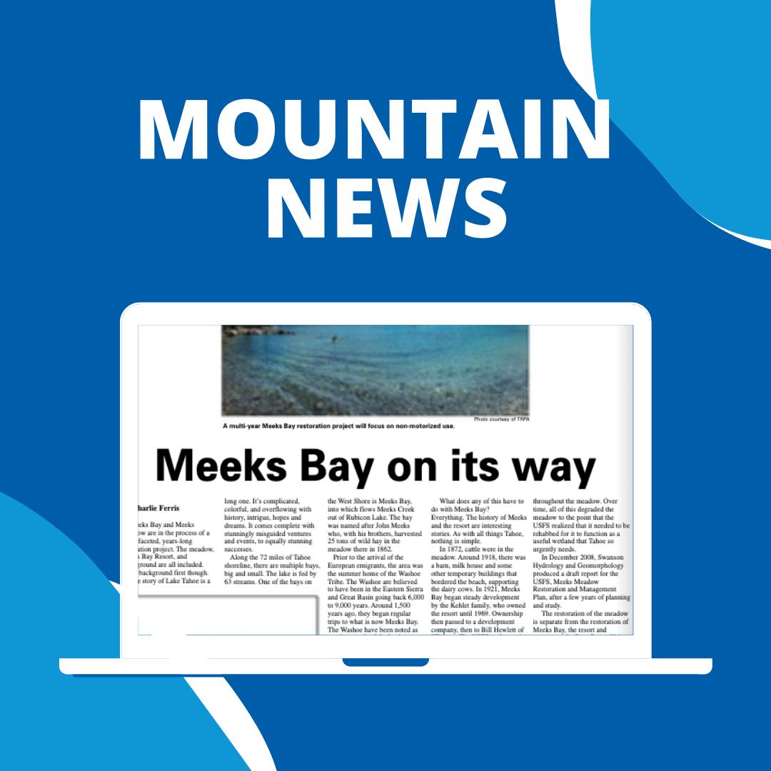 Meeks Bay on its way
