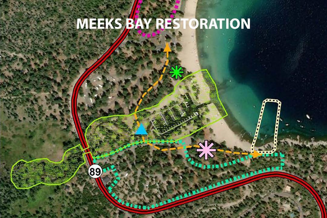 Meeks Bay Restoration Project Map