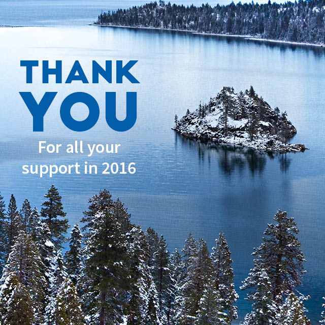 Thank you for all your support in 2016