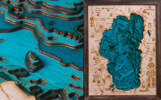 Lake Tahoe Wood Map - get yours today