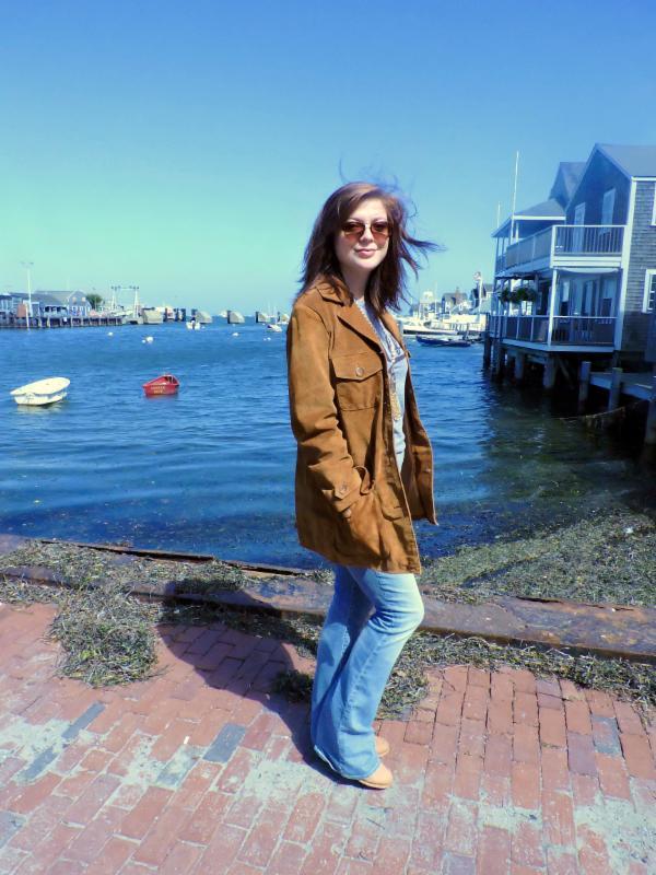 Virginia Slims Suede jacket, size M-L, $228 ;