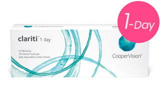clariti 1 day daily contact lenses featuring silicone hydrogel ,