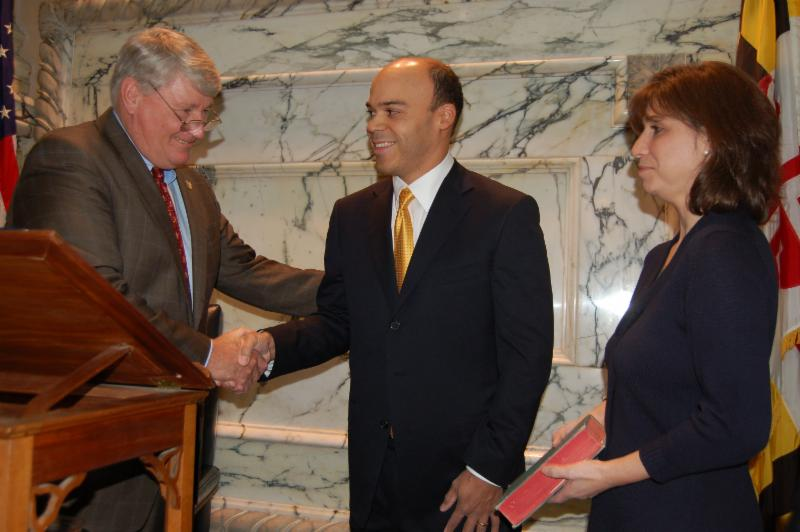 Mike Busch Al and Barrie Carr at swearing in