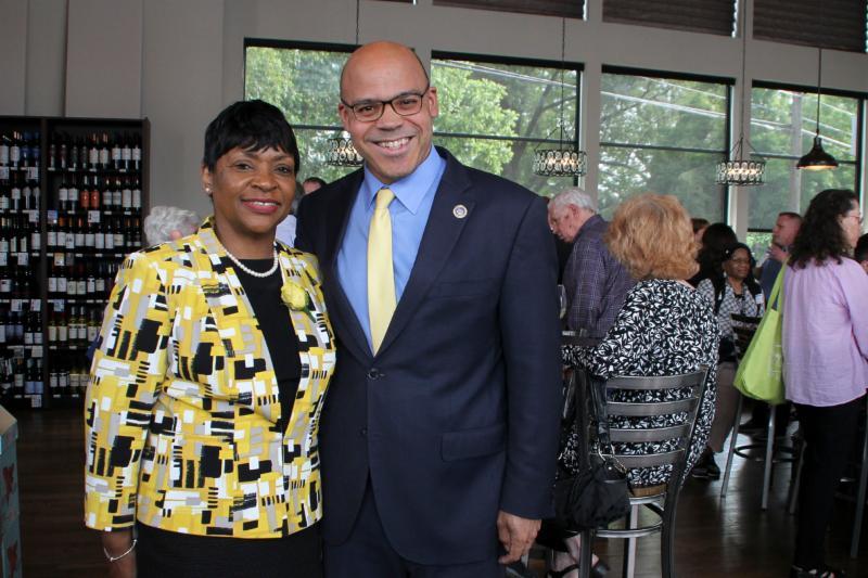 Speaker Adrienne Jones with Del. Carr