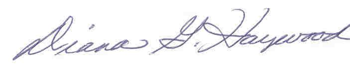Diana Haywood Signature