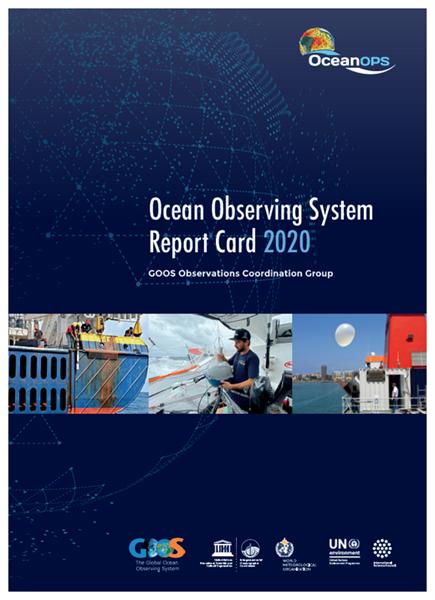 2020 Ocean Observing Report Card cover