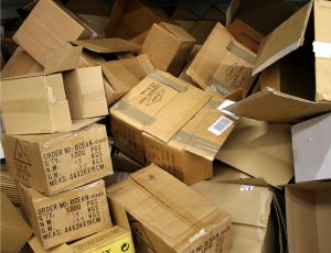 Boxes piled up