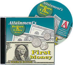 Cd case and disk with Dollar Bill and First Money title