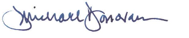 J Michael Donovan signature