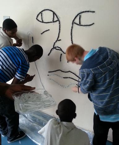 Student art project with George Gadson