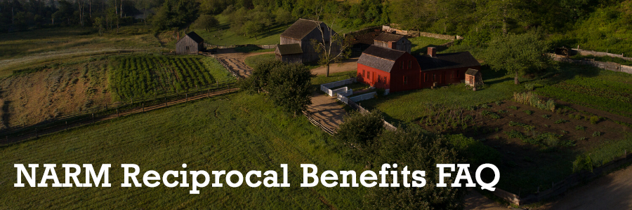 NARM Reciprocal Benefits FAQ