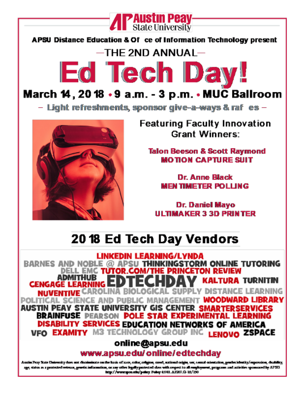 Ed Tech Day Flyer