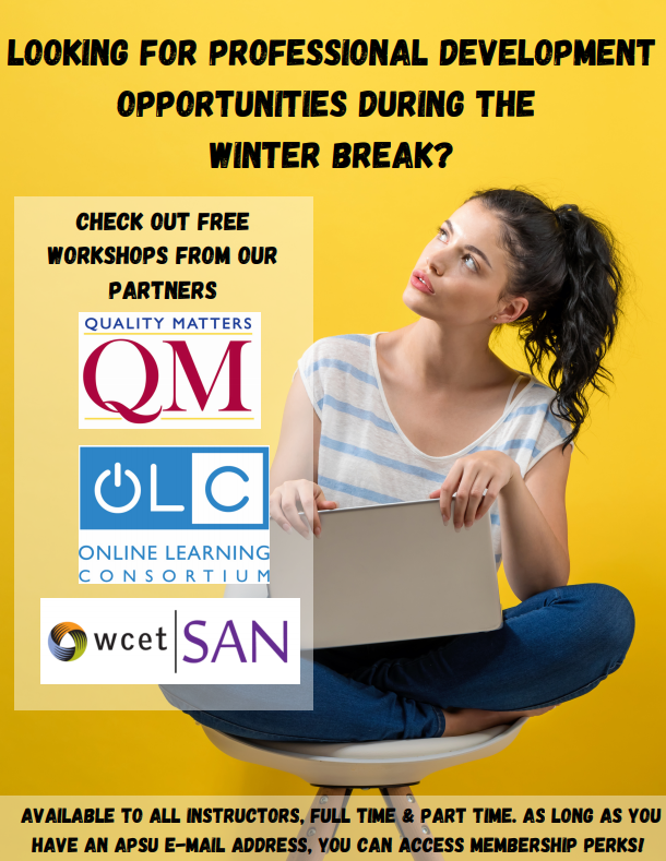 Are you looking for professional development opportunities during the winter break