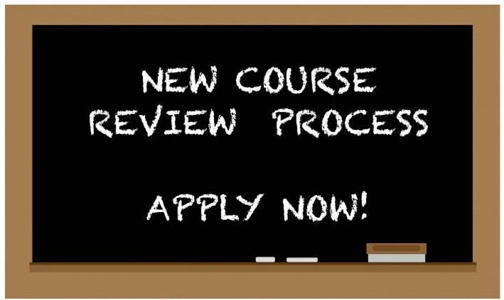 Chalkboard with course review process