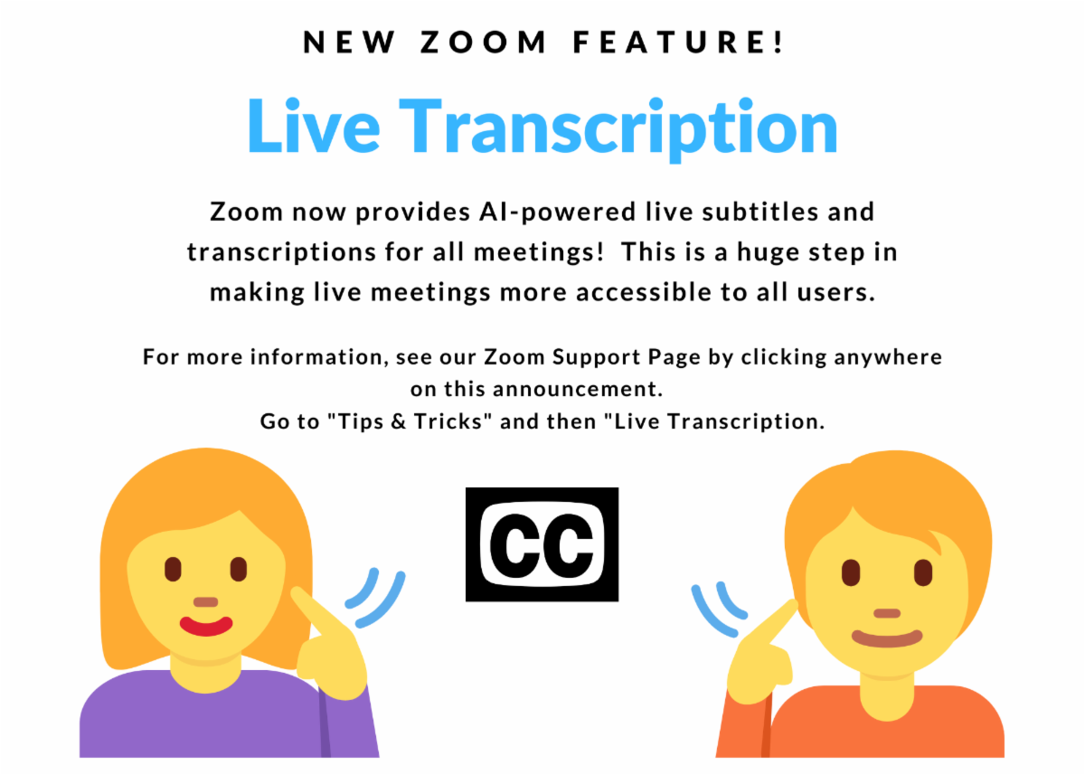 zoom now provides a i powered live subtitles and transcriptions for all meetings