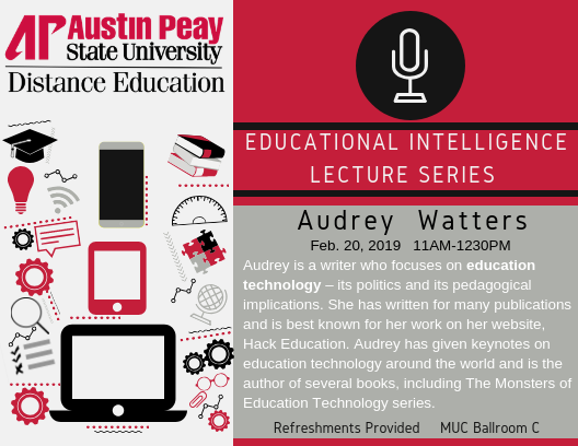 Audrey Watters Lecture Series Flyer