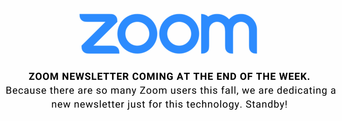Zoom Newsletter coming soon