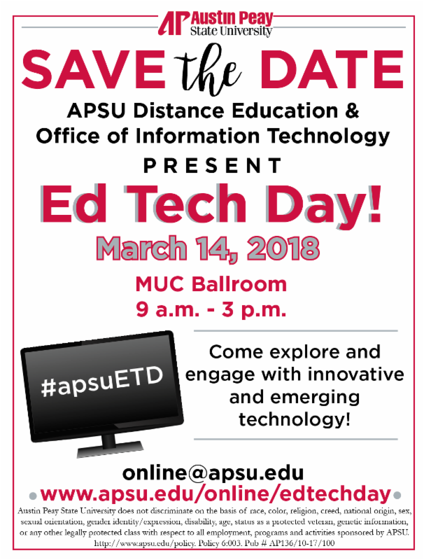 Ed Tech Day Save The Date
