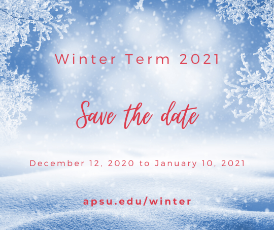 Winter Term 2021 Save the Date