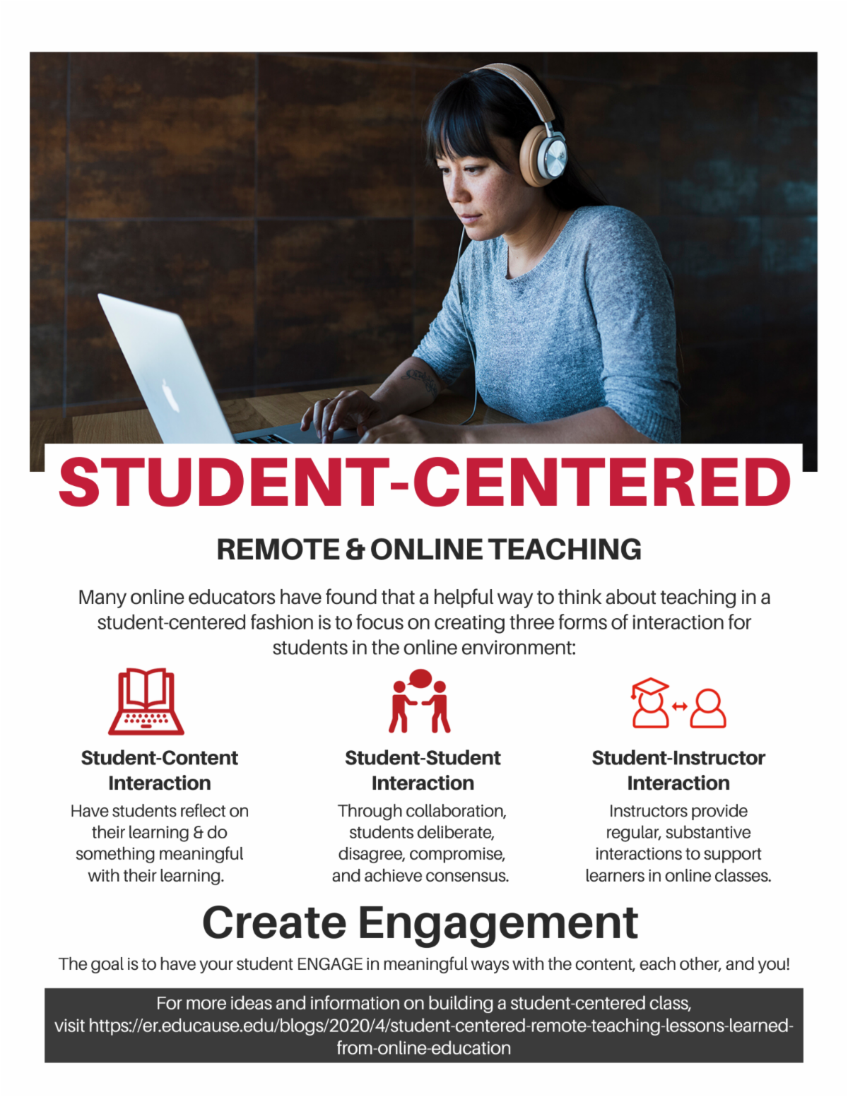 Student centered remote and online teaching tips for faculty click here for more information