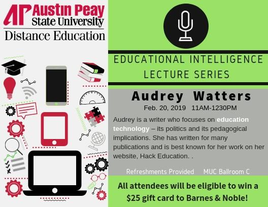 Audrey Watters Lecture Series graphic