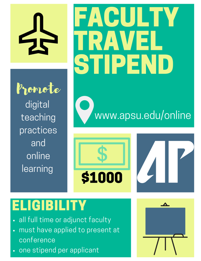 faculty travel stipend graphic
